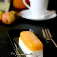 Cheese cake semifreddo con gelè all'albicocca