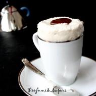 Souflè glacé con caramello salato al caffè