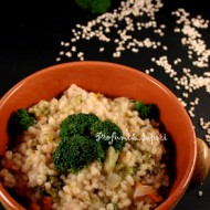 Minestra di orzo e broccolo siciliano