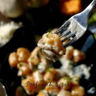 Gnocchi di zucca con funghi e salsa al pecorino