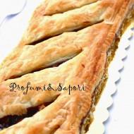 Cajeta tarte ( torta di sfoglia e dulce de leche con mandorle)