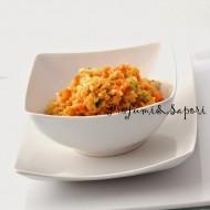 Zuppa fredda di lenticchie e cipolla rossa