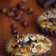 Quiche al cacao con zucca, pancetta e nocciole