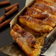 Pull-apart cinnamon pumpkin bread