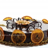 Torta chantilly al Grand Marnier, pistacchio e cioccolato di Luca Montersino
