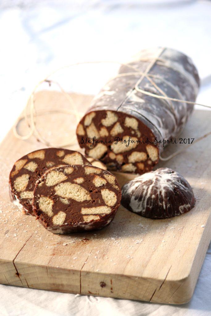 Ricetta Salame Al Cioccolato Montersino.Salame Al Cioccolato Senza Uova E Senza Burro Stefania Profumi E Sapori