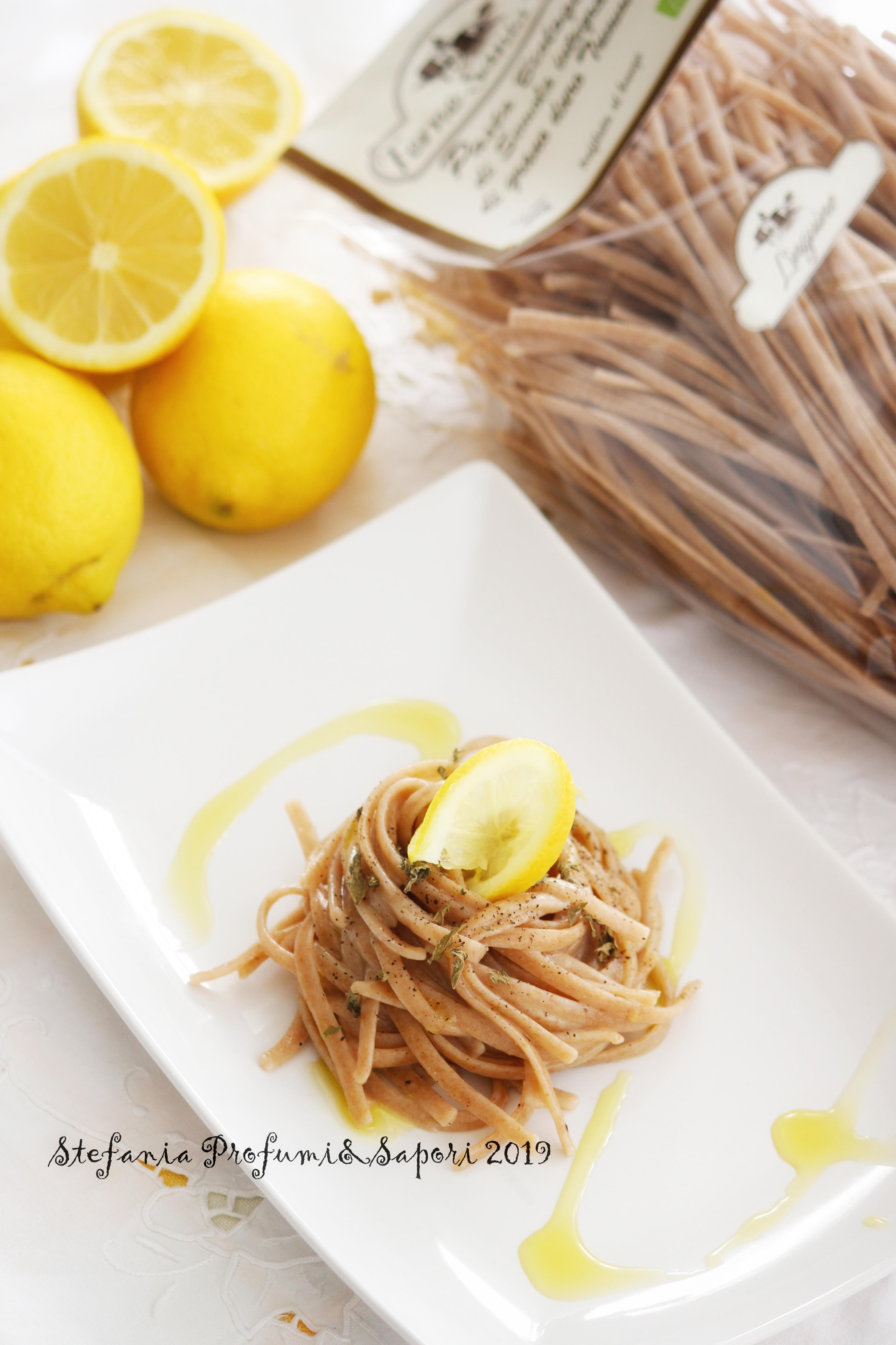 Linguine integrali al limone